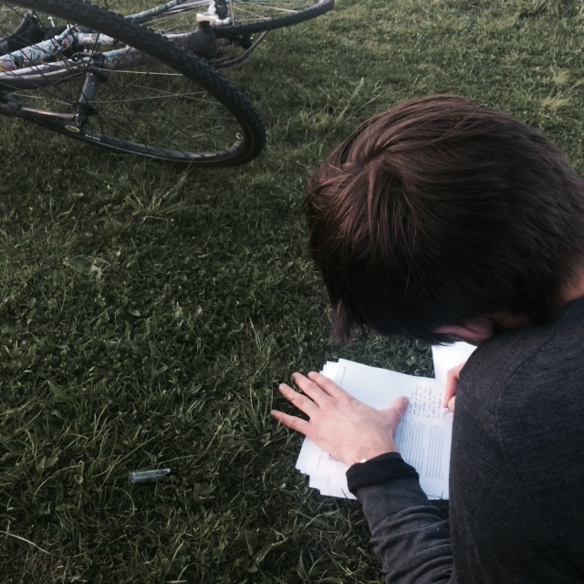 Let's be honest - not all the days are good days. Yesterday we figured out we have missed out some important details about registering our account on Kickstarter so almost got cold feet that we will not make it for May12 but luckily everything solved out good. Here Nils is in the park for 5min of sun still editing the texts for the campaign.