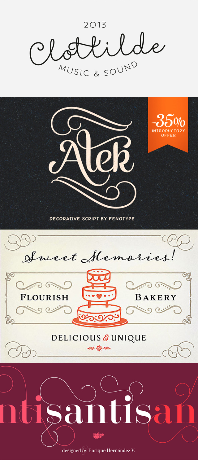 Script fonts on sale! For something a little bit fancy, classy or sweet, try one of these handwritten scripts. Perfect for typography art, wedding invites or infographics | Favourite Fonts on Kitty & Buck