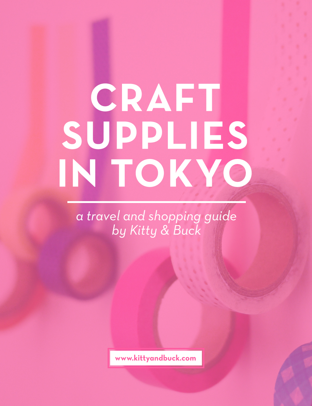 Craft Supplies in Tokyo! Trying to find your way around Tokyo's craft and art supply stores can be super challenging! Check out this guide on the best places to visit for craft, fabric and kawaii stationery supplies with insider tips, addresses, and directions to make your next crafty visit to Tokyo hassle free and fun! | by Kitty & Buck