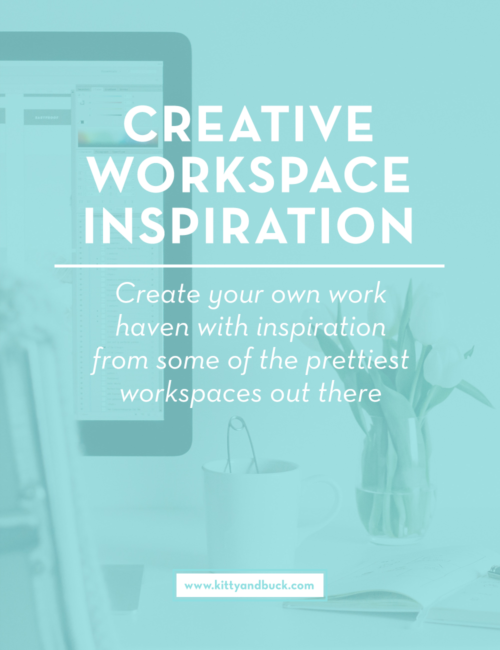 Work Your Way is a series that's all about inspiring each other and sharing knowledge to help us all work better and smarter. If you work from home, check out this post, it's full of ways to optimize your workspace. Find out the five essential factors to a creative, inspiring and productive workspace. | by Kitty & Buck #workspace #workfromhome #interiorinspiration #officespace #homeoffice #ladyboss
