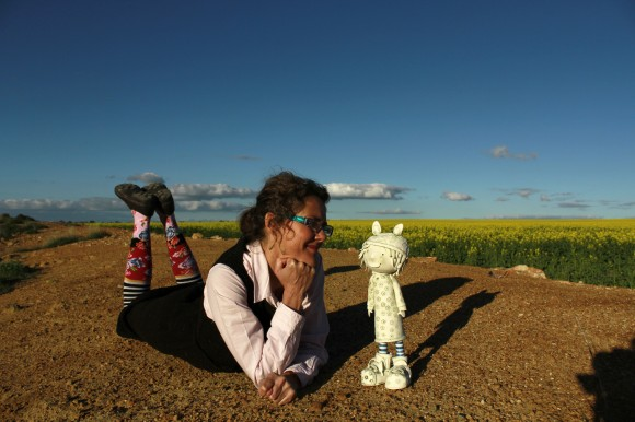 Fleur-Schell-resting-on-edge-of-Clay-Dam-Goomalling.jpg