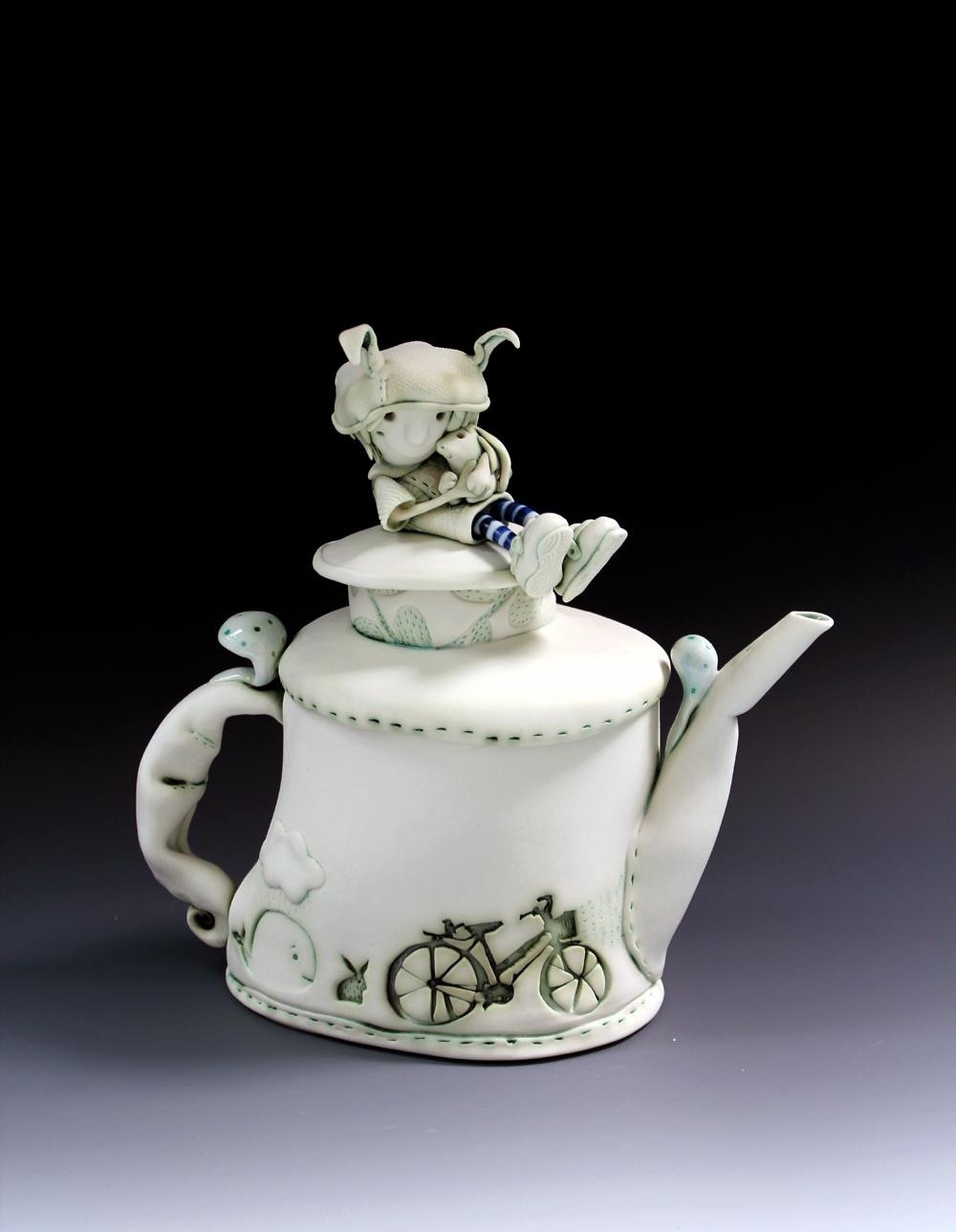 'Heidi and Bilby' Teapot W25cm x H24cm x D12cm