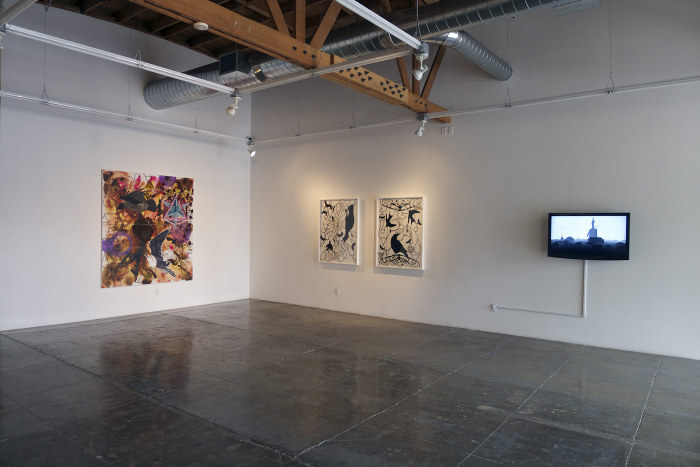 Installation shot at Empty Distances, Mark Moore Gallery, 2013.