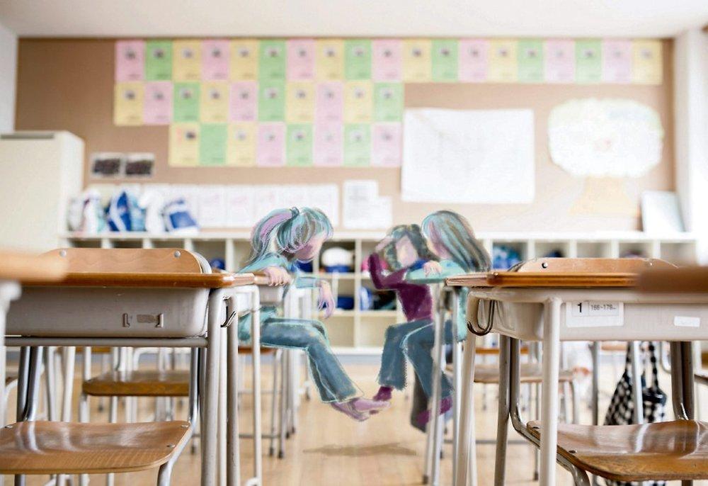 OVERGREP PÅ SFO: En syv år gammel jente ble utnyttet seksuelt på SFO av en ansatt.  ILLUSTRASJON: TORIL S. TØRMOEN