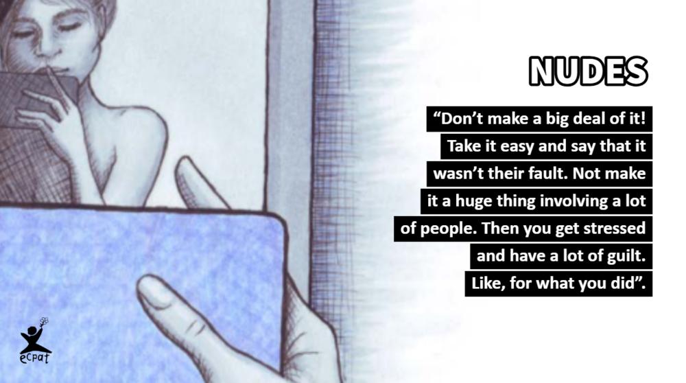 """ECPAT Sverige lanserte nylig rapporten """"Man kan bli utpresset selv om det føles OK i begynnelsen"""" som omhandler barns egne delinger av nakenbilder på nett."""