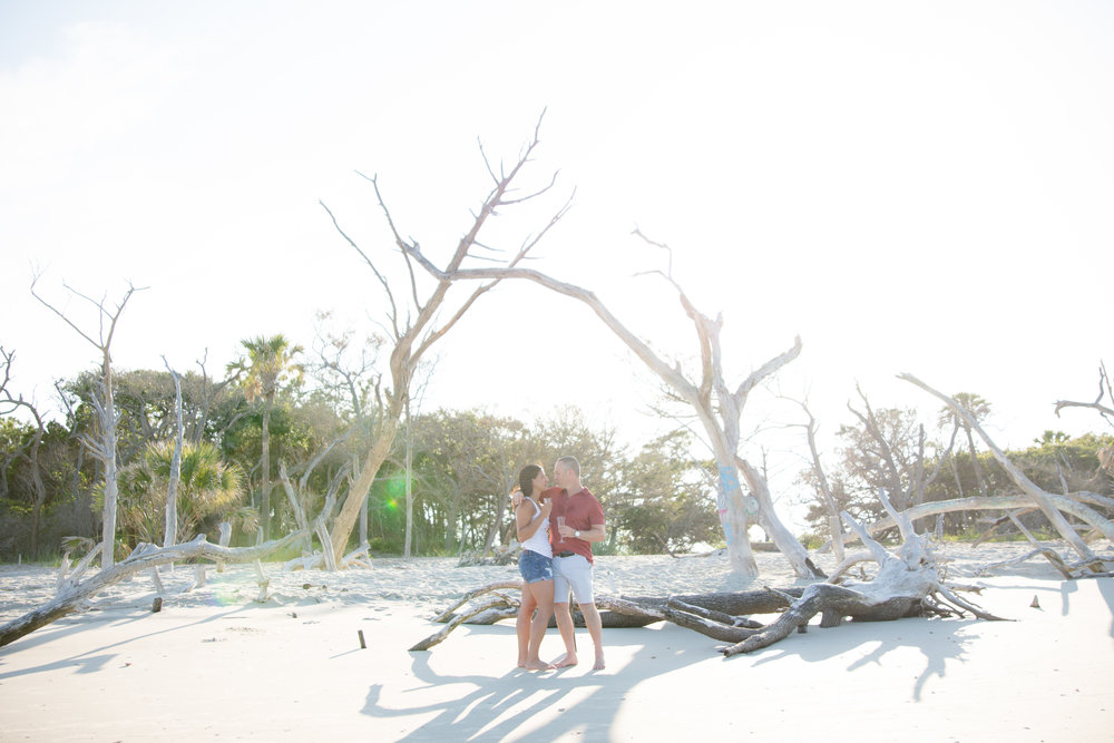 Folly Beach proposal photography
