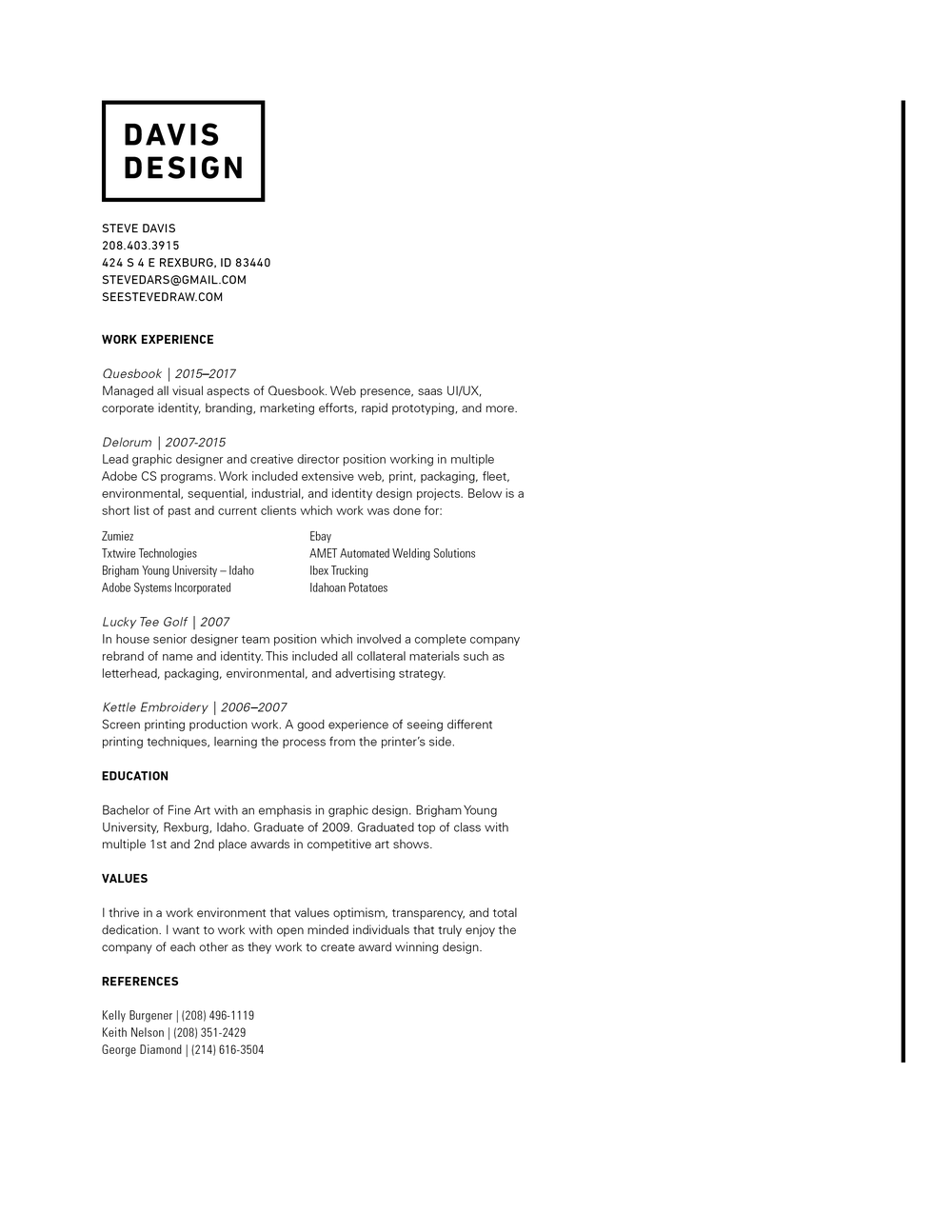 Contact Resume See Steve Draw