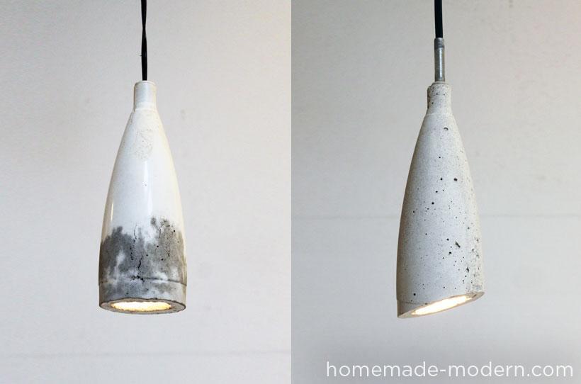 DIY concrete pendant lamps - homemade-modern
