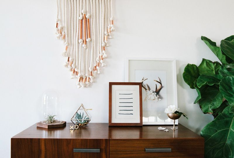 DIY copper pipe wall hanging - A Beautiful Mess