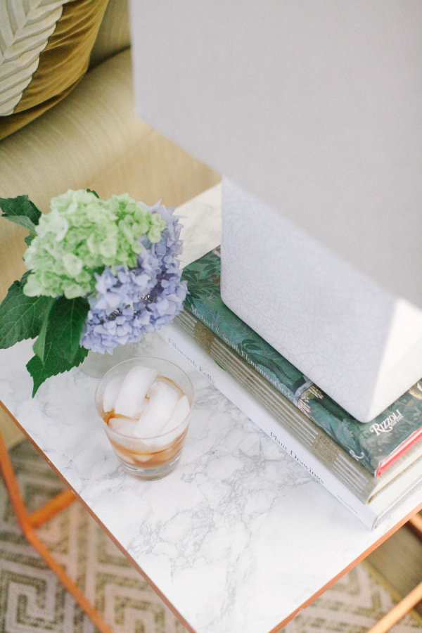 DIY copper & marble side table - Style Me Pretty