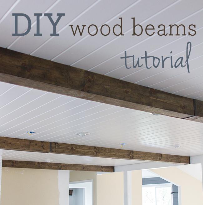 DIY wood ceiling beams - Jenna Sue Design