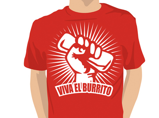 Burrito logo t-shirt for restaurant