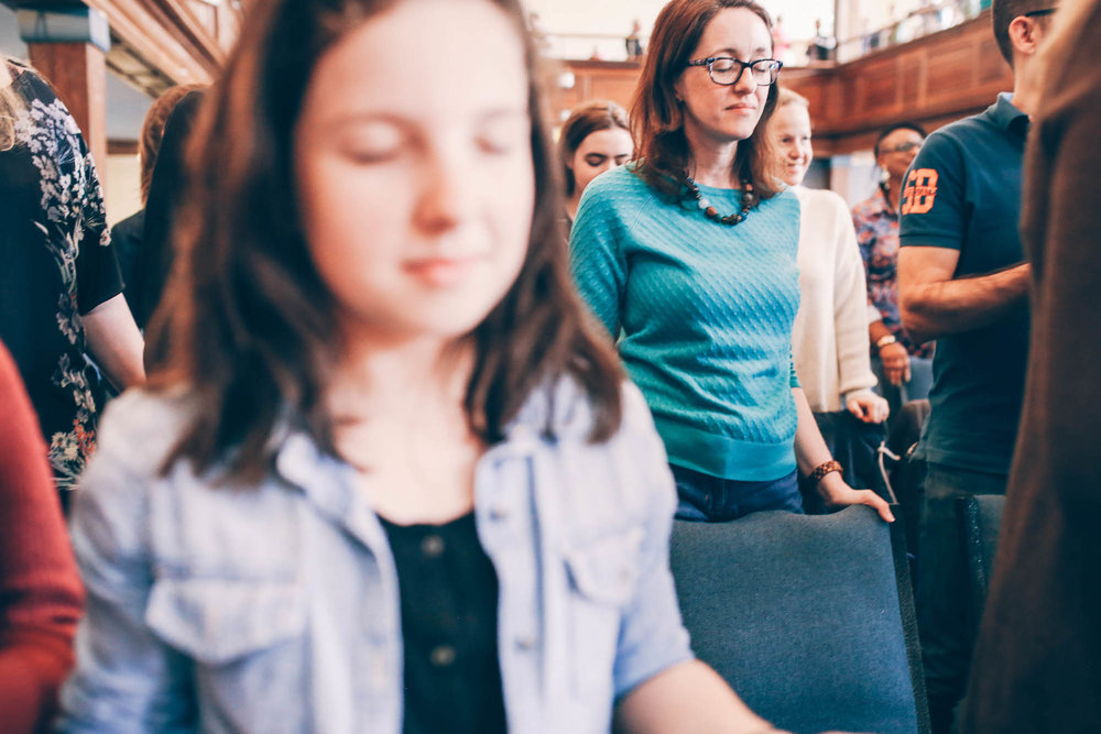 Pray - Prayer is central to who we are as a church, shaping our life together as a community. Speaking with and listening to God is how we understand ourselves and Jesus' heart for the world. We believe the Holy Spirit is present and active in our lives—a person we can encounter and know in a place of prayer.