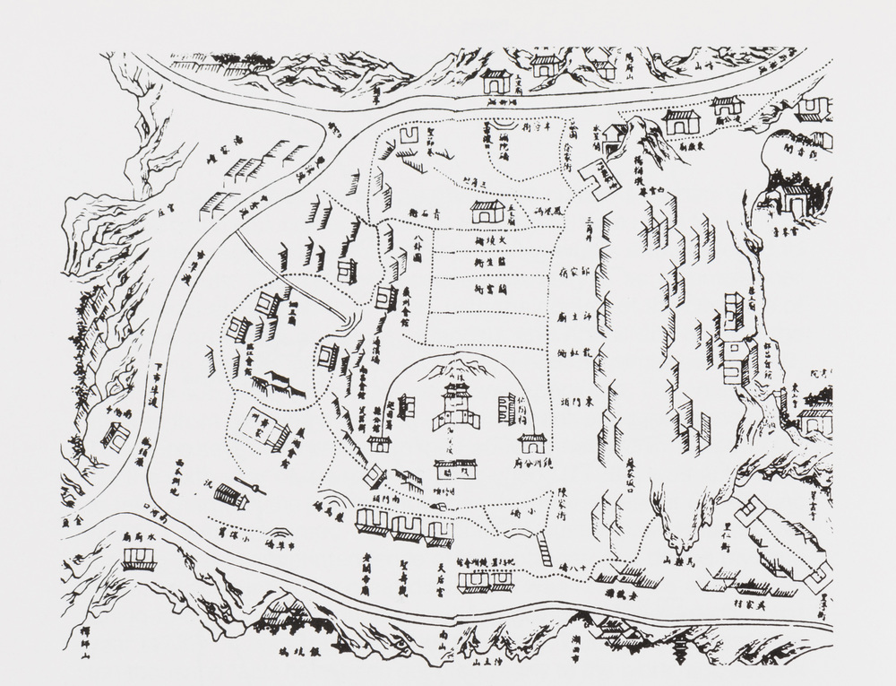 Map of Jingdezhen from the  Tao Lu , 1815  © Division of Rare and Manuscript Collections, Cornell University Library
