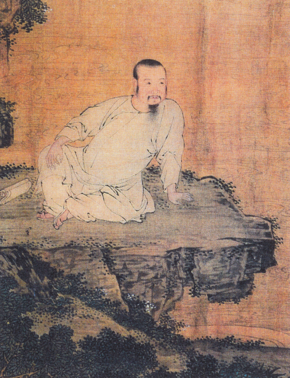 Silk scroll painting of Lang Tingji, by Lu Xue, 1697 © Qingdao Municipal Museum
