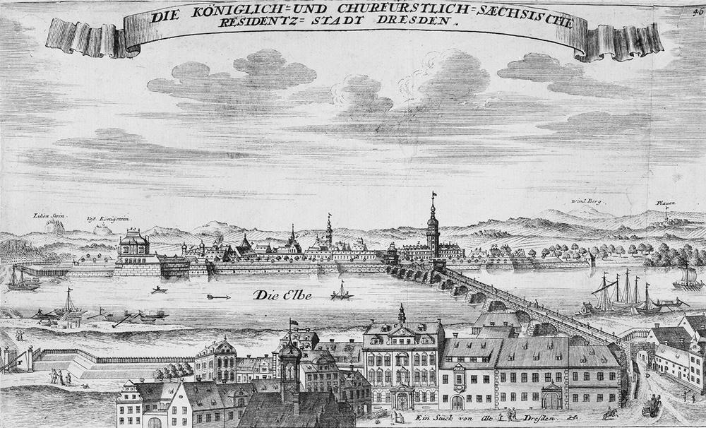 Engraving of Dresden, 1721 © SLUB Dresden / Deutsche Fotothek / André Rous