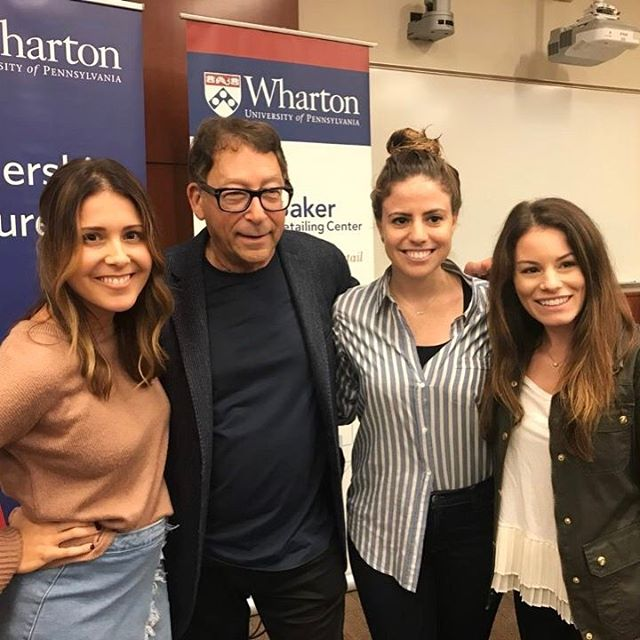 Partners @ashleygutta @abbeyvuillet and @meeshapricot meet Stuart Weitzman at today's leadership lecture 👠👡👢