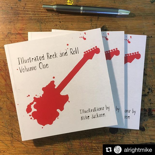 Last day for pre-orders until the big opening June 2nd @indyhall.  Check out @alrightmike's profile for link and glimpses inside the book.  #Repost @alrightmike ・・・ Last day to order the limited-edition first run of my very first book of illustrations, Illustrated Rock and Roll, Volume One. Scroll through the photos here to see some spreads and tap the link in my bio to snag your own hand-numbered/signed copy. 🔥🎸🔥 #illustration #illustrationart #bookillustration #art #drawing #illustratedrockandroll