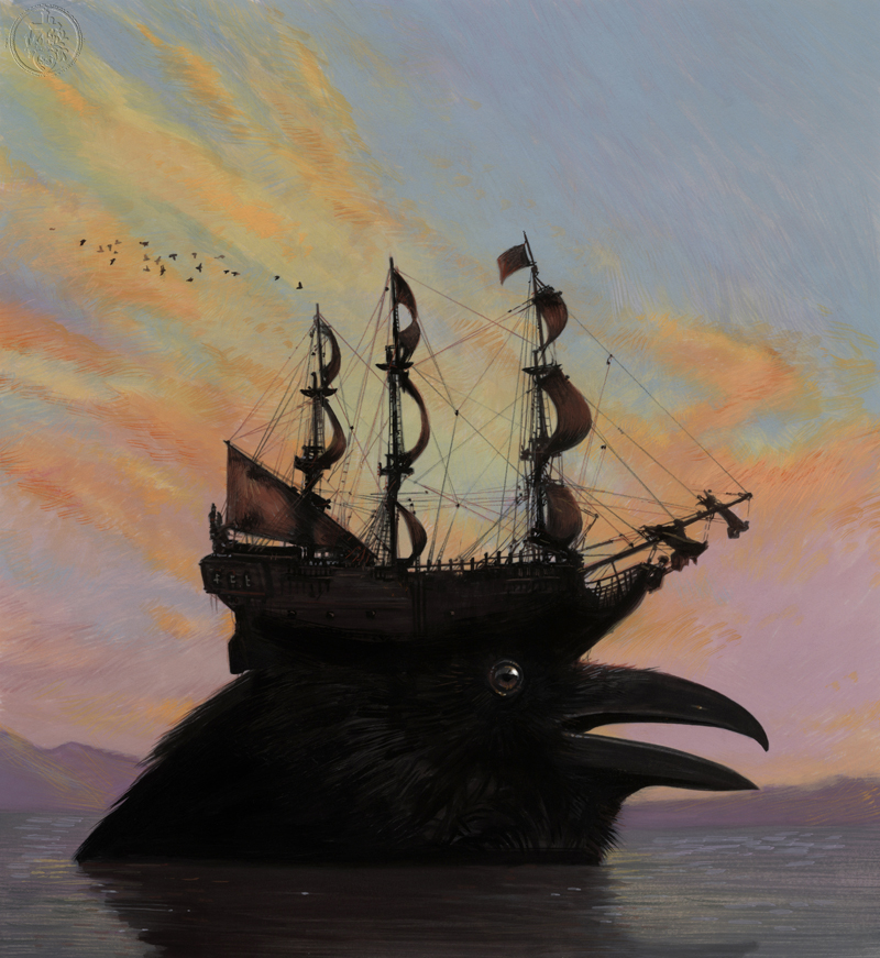 Another surreal image with crows and boats...This one reminds me of a scene from Time Bandits... But I loved the color... © Bill Mayer 2015