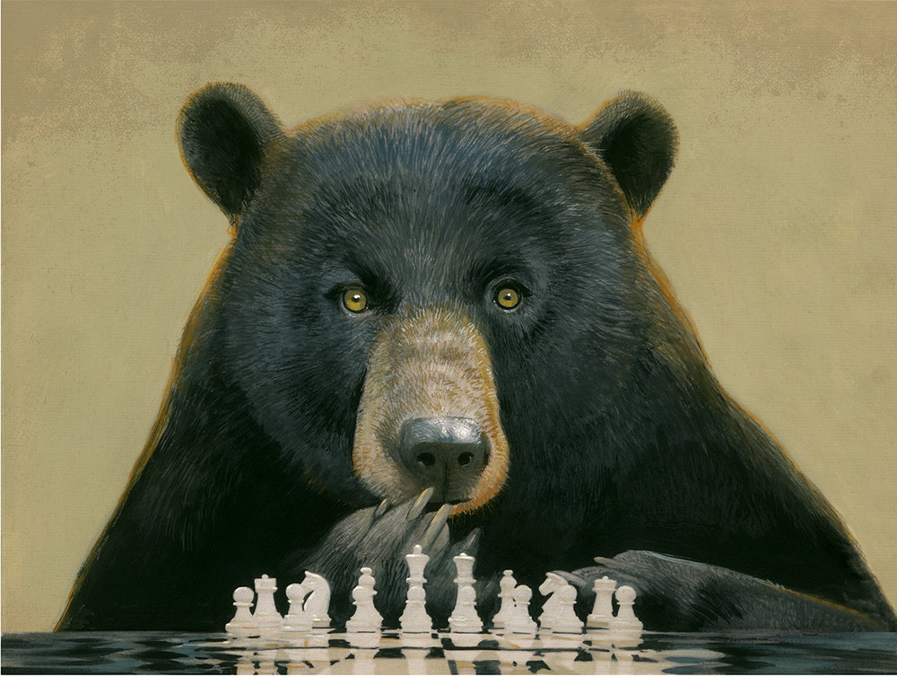 """Chess Bear"" spot for Sierra magazine ©Bill Mayer 2019"