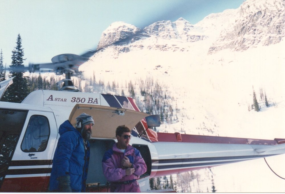 Art Twomey (l) and Jorg Marquari at Boulder Hut in 1993. Photo: Adrian Flash