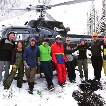 Winter is coming. Thanks to this crew we'll be ready to open in December!