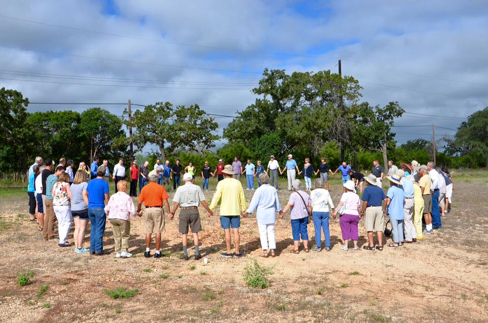 Groundbreaking for Habitat for Humanity House funded and built by KFUMC