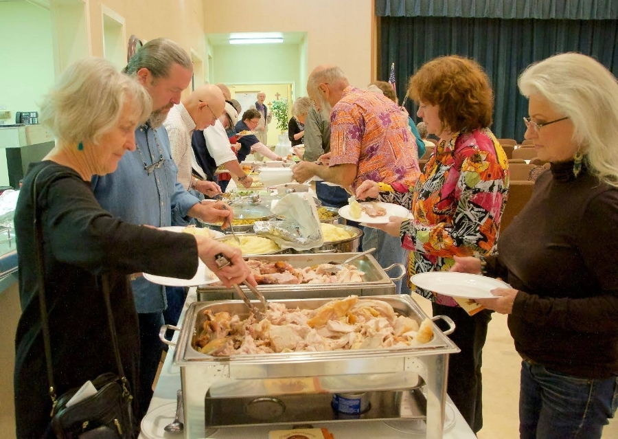 Free Community Thanksgiving Potluck Feast at the First United Methodist Church in Johnson City