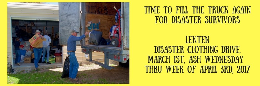 Time to Fill the Truck for Disaster Survivors AgainLenten Disaster Clothing Drive.March 1st, Ash Wednesday -%.jpg