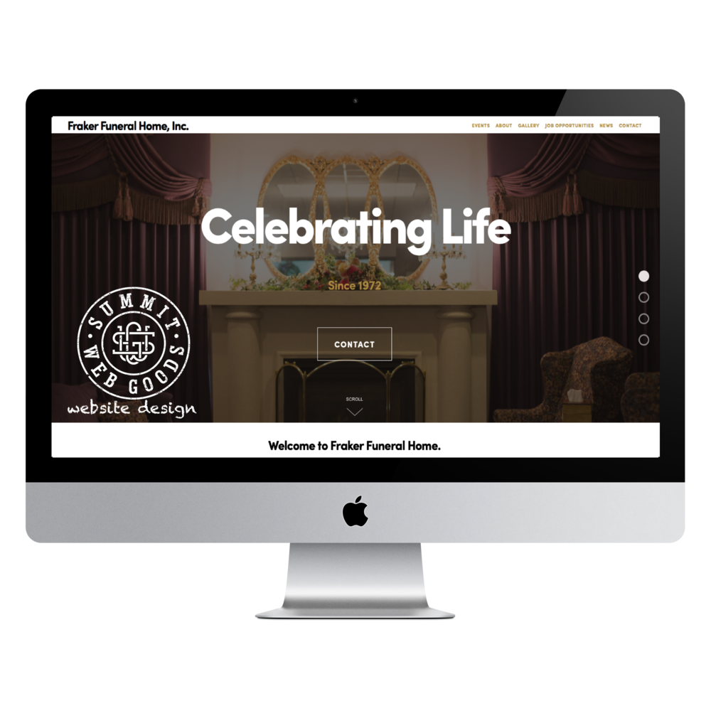 Fraker Funeral Home website designed by Summit Web Goods Springfield, MO website design + development