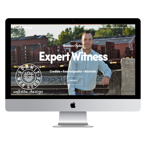 Ogden Expert Witness website designed by Summit Web Goods Springfield, MO website design + development