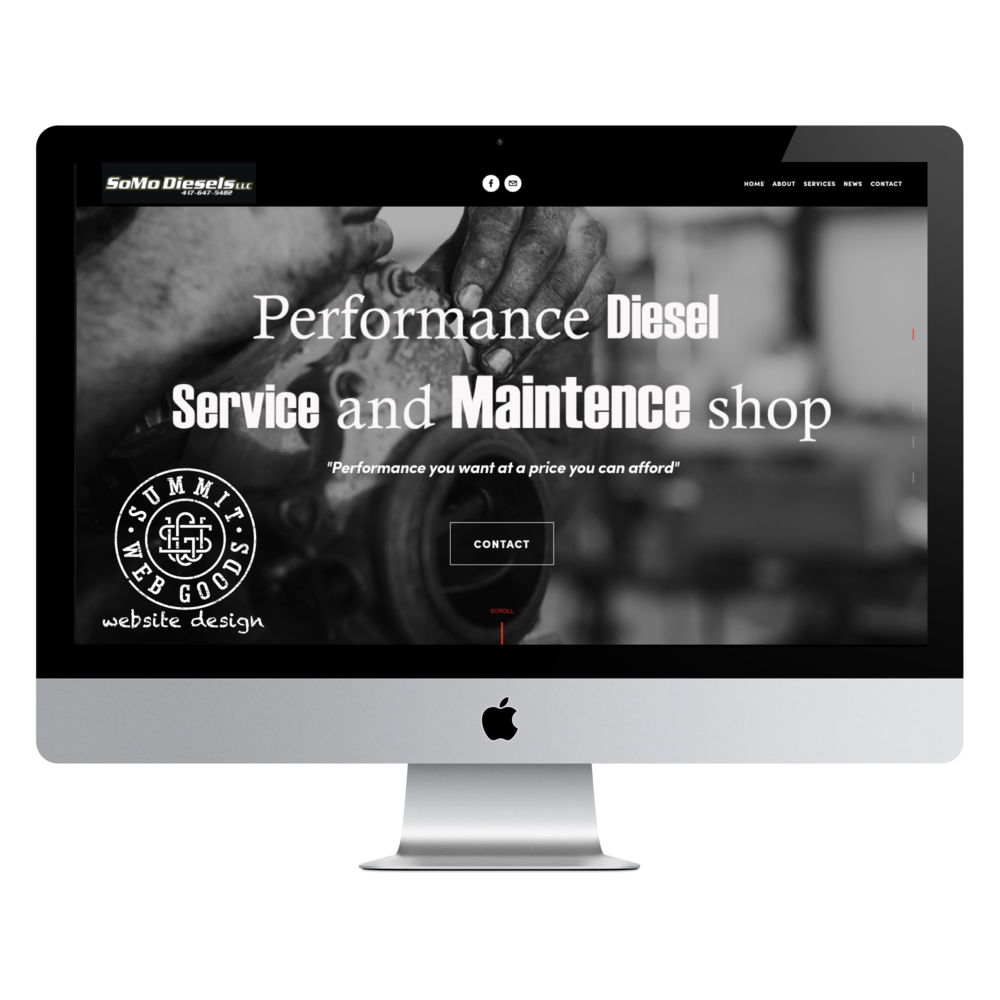SoMo Diesels Springfield, MO website designed by Summit Web Goods