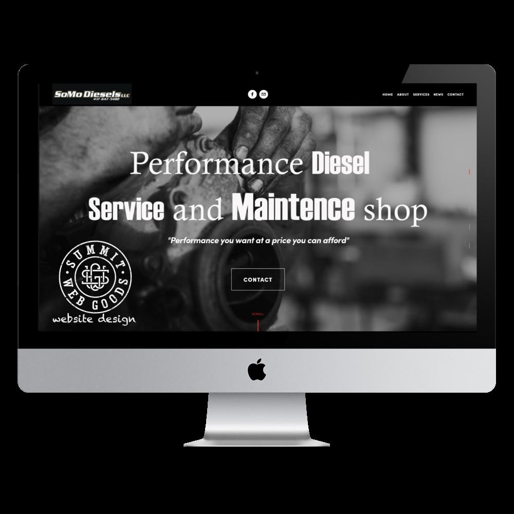SoMo Diesels Springfield, MO - website designed by Summit Web Goods