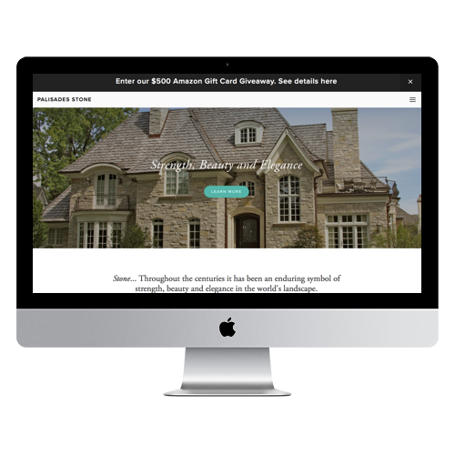 Palisades Stone website by Summit Web Goods Springfield, MO
