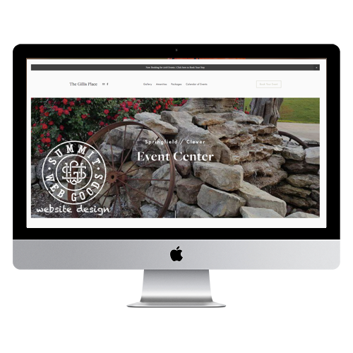 The Gillis Place Website by Summit Web Goods Springfield, MO website design