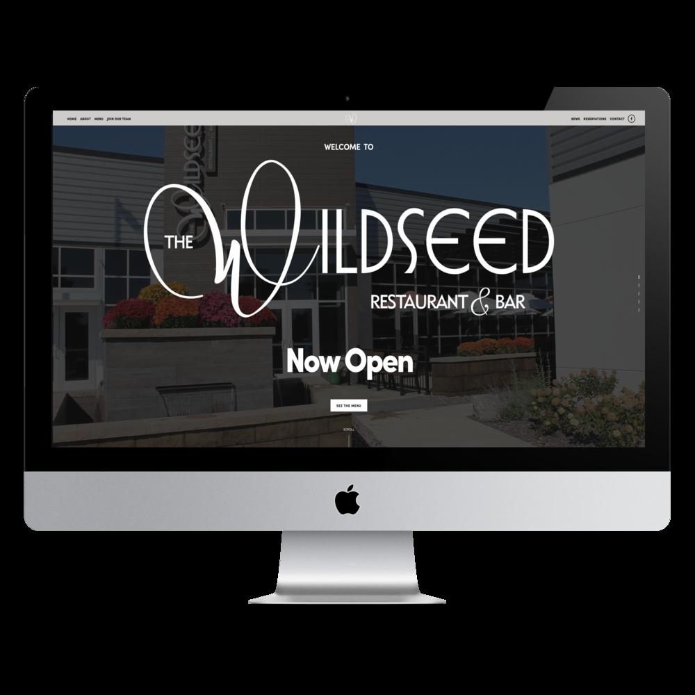 The Wildseed Restaurant & Bar website by Online Masterminds