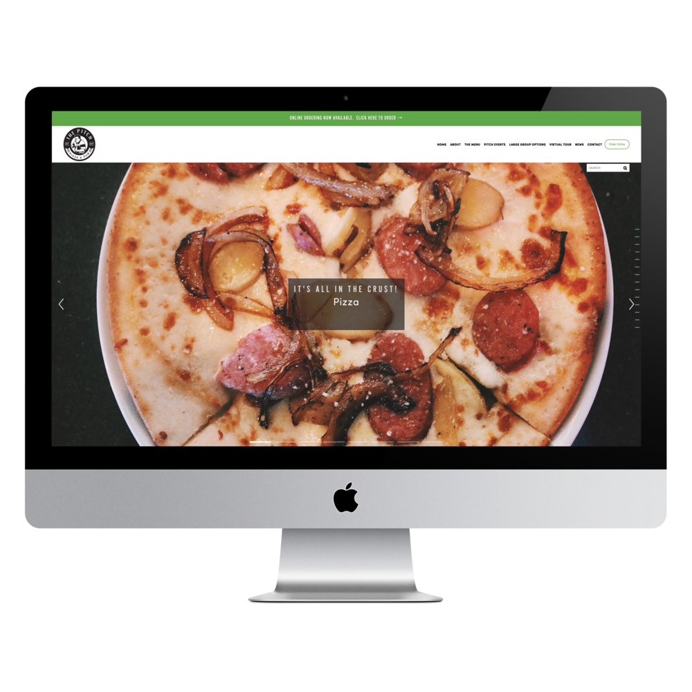 The Pitch Pizza & Pub website by Online Masterminds