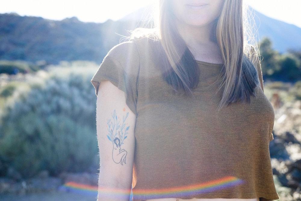 Ny fin tatuering + magiskt ljus. ++++