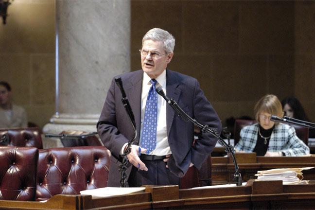 Sen. Miller on the Senate floor