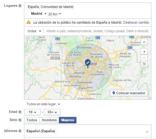 Segmentación de Anuncios en Facebook