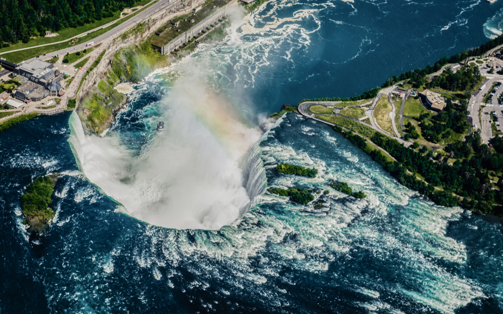 Niagra Falls. Helicopter view.