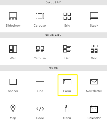 Squarespace Form Block