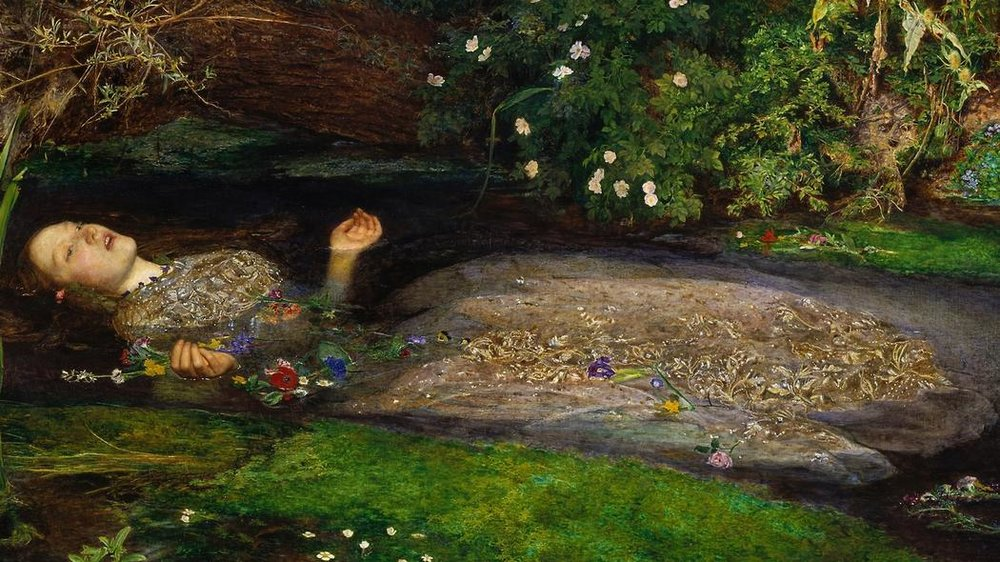 Ophelia by British artist, Sir John Everett Millais