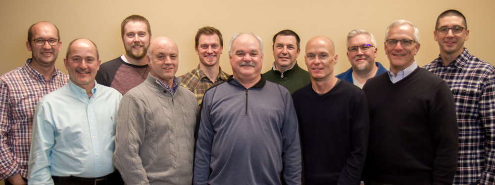 Front Row, Left to Right:  Tim Pflederer, Mike Witzig, Greg Menold, David Nicholson, David Zimmerman  Back row:  Pastor Jonathan Farrell, Justin Zimmerman, Grant Zobrist, John Nafziger, Brandon Cosby, Matt Gardner