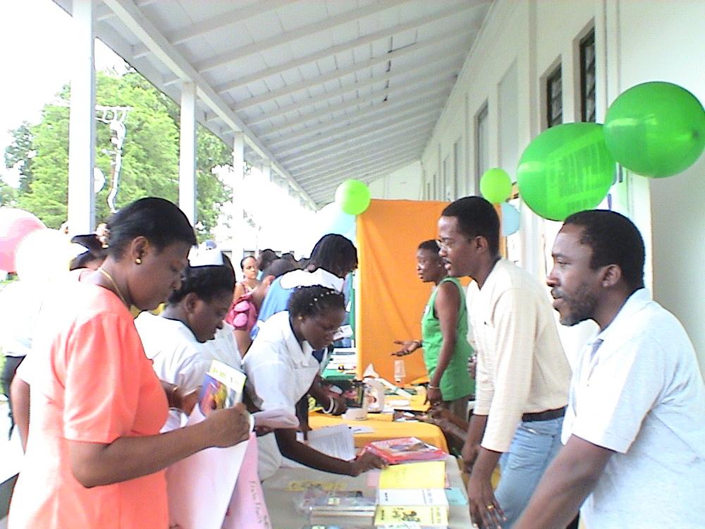 Courtney at health fair.JPG