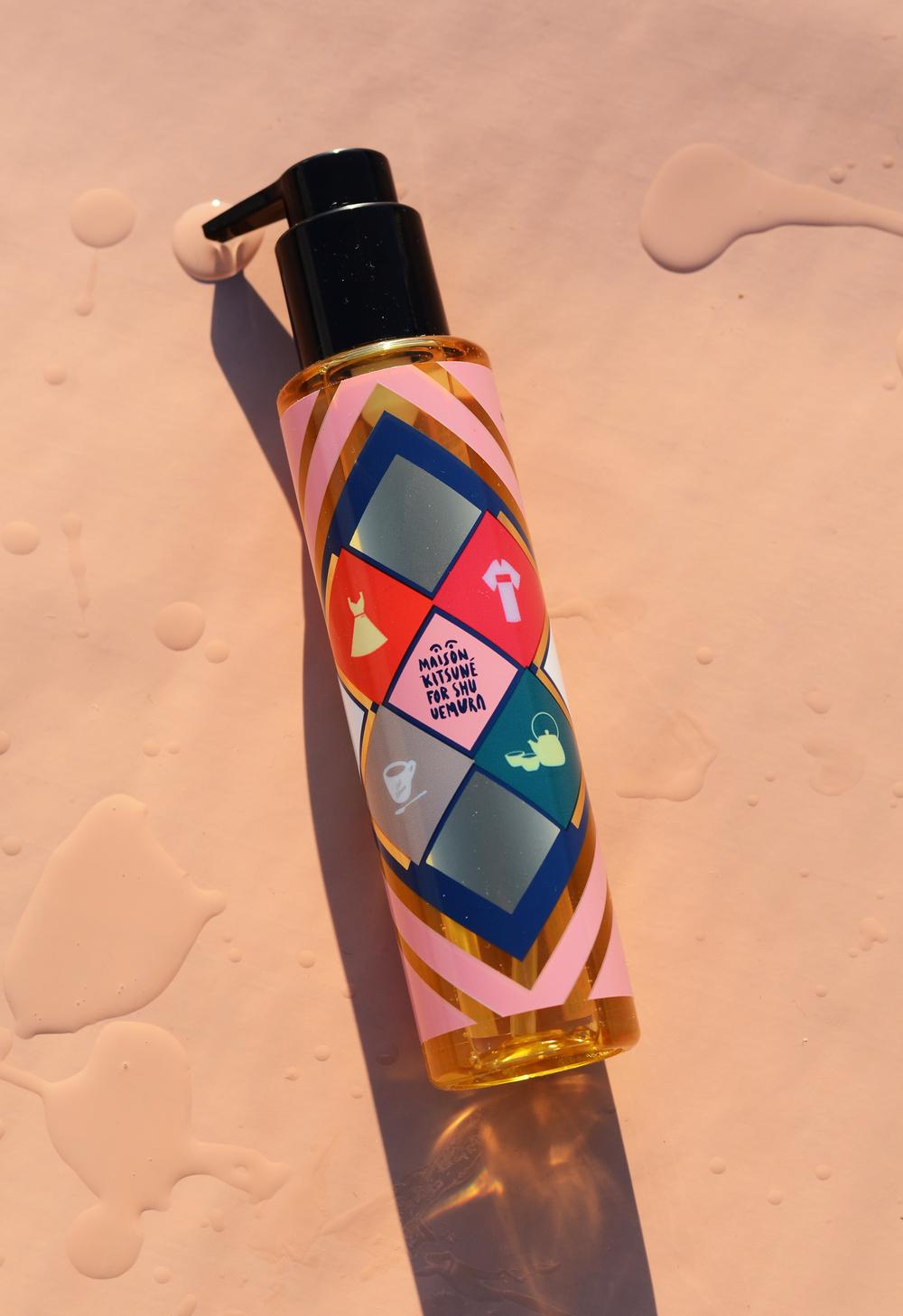 Maison Kitsunéx Shu Uemura Protective Oil, $69