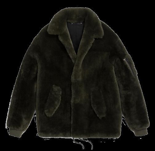 Shearling Track Jacket
