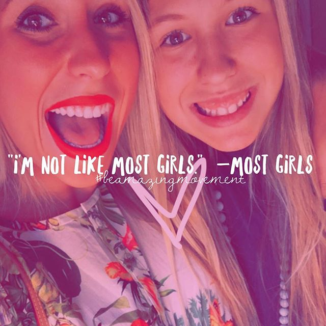 Right?! We as girls say this a lot. 😉😂 We tend to forget we are a lot more alike than we are different. Let's all drop the pretenses and masks, shall we? Once we can accept and love ourselves, we can love & accept others! 👌🏼🙌🏼💋 No more judging. No more gossiping. Tag your bestie! 👯#girlsunited #Roar Join the #BeAmazingMovement (Click the link in our profile now. 🎉)