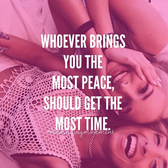 Yes Please. ✌🏼️💫 Our time is the biggest commodity we own Sistas. 🙌🏼 Be careful you are not wasting that precious time on someone who doesn't appreciate it, male or female. On the flip side... make sure your peace lovin' peeps who bring you JOY get the most of it! 🕰👏🏼👏🏼👌🏼😉 Tag your Bestie! Join the #BeAmazingMovement (Click the link in our profile now! 💋👑)