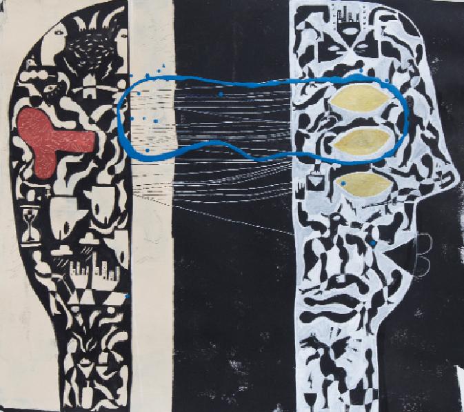 Espacio de mí, 2016 Mixto Acrílico y plástica/lienzo 90 x 101 cm